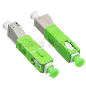 2pcs SC APC Male to LC UPC Female Hybrid Fiber Optic Adapter MM OM1 OM2 Flange