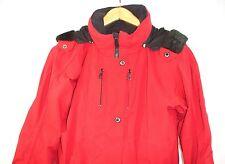 Blackbear Women's Winter Lined Faux Fur Hooded Jacket Parka Red 14