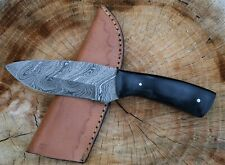 "Unique Handmade Damascus Steel Hunting knife 8"" Full Tang MICARTA Handle....EDC"