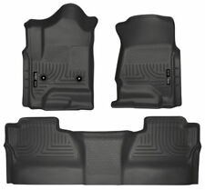 Husky Liners Front & 2nd Seat Floor Liners (Black) For 14-17 Chevy/GMC Crew Cab