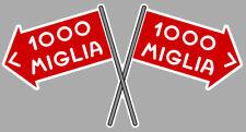 1000 MILLE MIGLIA RACING  DRAPEAUX 15cm AUTOCOLLANTS STICKERS MB047