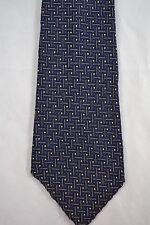Vintage SIRODAIR blue and white textured spot tie 1960s terylene