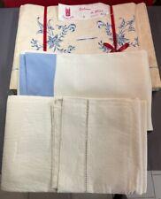 draps anciens, véritable toile du nord, lot de 6 draps neufs à relaver