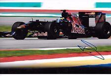 Sebastian Bourdais SIGNED 12x8  Scuderia Toro Rosso STR4  Malaysian GP 2009