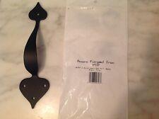 New Acorn Apebp 8-3/4 Long Smooth Iron Heart Door Pull - Black. Sale