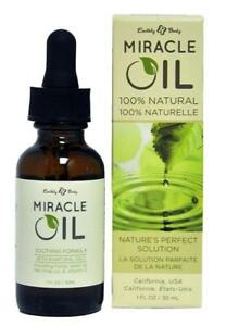 Earthly Body 100% Natural Miracle Oil 1 oz for Scars, Shave Bumps, Stretch Marks