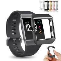Soft TPU Rugged Frame Replacement Case Bumper Cover For Fitbit Ionic Smart Watch