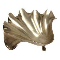 Vintage Brass Shell Jewelry Dish Catchall Dish
