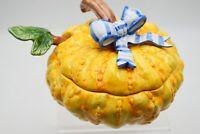 Vintage 1995 Fitz & Floyd Vegetable Bouquet Squash Pumpkin Soup Tureen W/ Ladle