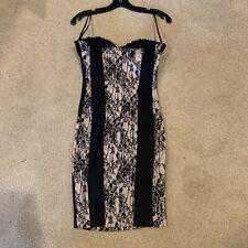 NWT Kim Kardashian's Kollection Sz S Sheath Strapless Dress Black Lace Beautiful