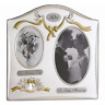 Lawrence Frames Satin Silver & Brass Plated 2 Opening Picture Frame - 50th