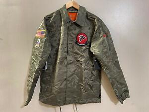 Nike Salute To Service Atlanta Falcons Jacket AT7773-222 Olive Camo Mens M NEW