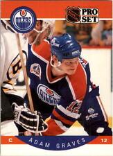 1990-91 PRO SET HOCKEY ADAM GRAVES ROOKIE CARD #84 EDMONTON OILERS NMT/MT-MINT