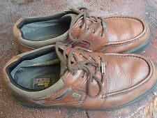 11 CLARKS SHOES mens oxford casual brown leather gore-tex xcr waterproof dress