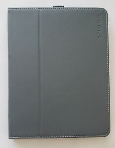 Snugg iPad 2 Case - Smart Cover with Kick Stand & (Gray Leather) for Apple iPad