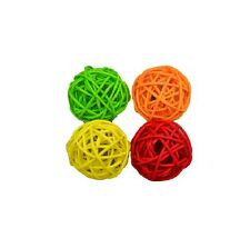 Cat Woven Rattan Ball for Cat Toy - 4pk - colored woven rattan balls