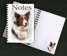 Border Collie (Red) Notebook /Notepad with small image on every page - Starprint