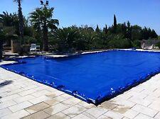 Copri piscina, copertura piscina, telo invernale con salsicciotti, su misura