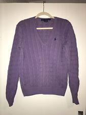 Ralph Lauren Lilac Cable Knit Jumper Sweater Size XL