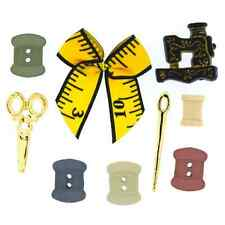 9 Stitch In Time Sewing Notions Dress It Up Novelty Craft Buttons Embellishments