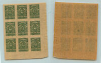 South Russia 1919 SC 62 mint Denikin block of 9 . rtb1460