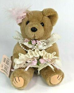 Vintage Bearly People Plush Teddy Bear, Fan Dancer FD1 1990
