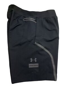 "UNDER ARMOUR Unstoppable 9.5"" Fitted Men's Shorts Black Size Medium MSRP$80"