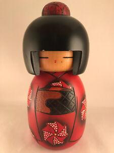 26cm Japanese doll by Masae Fujikawa - Made in Japan - Wooden Handmade