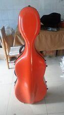 high quality   fiberglass cello case /wheells 4/4 #6378,  cello case