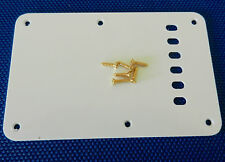 Fender Deluxe Player's Strat White TREMOLO BACK COVER & Gold Screws Stratocaster