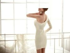 Spicing Lace Sleeve One Shoulder Bodycon Mini Club Dress