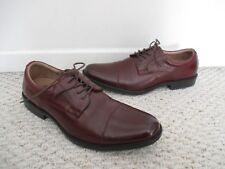 Clarks Kovit Cap Burgundy Leather Oxford Shoes Size 11.5 Mens