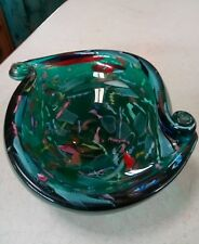 Avem Tutti Frutti Murano Glass Bowl Emerald Green