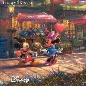 Mickey and Minnie Sweetheart Cafe Thomas Kinkade Disney Ceaco Jigsaw Puzzle