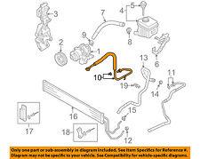 AUDI OEM 07-10 Q7-Power Steering Pressure Hose 7L8422893AH