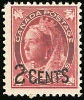 Canada #87 2c on 3c Carmine 1899 Queen Victoria F *MNH*