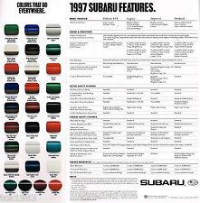 1997 SUBARU Brochure / Catalog: SVX, LEGACY, IMPREZA, OUTBACK,