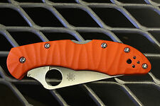 Scales for Spyderco Delica 4 (Orange G10) (Knife Not Included)