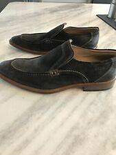 Men's Ecco Brown Suede Shoes, Size 45