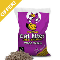 Cat Litter Wood Pellets 5L Highly Absorbent Pleasant Pine Fresh Aroma OFFER!