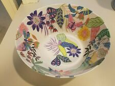 New Melamine Anthropologie Lulie Wallace  Serving Bowl Dragonfly~ Butterfly~