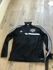Size Medium (M) Adidas Climacool Houston Dynamo Jacket, MLS. Black, With Zipper