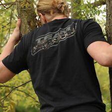 Korda Kore Digital Camo TK Tee Black Coarse Match Fishing T-Shirt - All Sizes