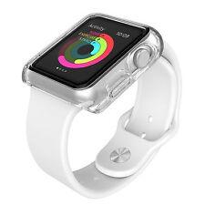 """2x Cover Custodia Trasparente Slim Tpu Per  Apple Watch Series 2 Nike+ 1,3"""""""
