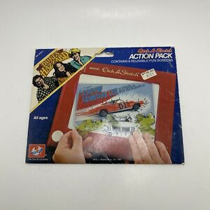 Vintage DUKES OF HAZZARD ETCH-A-SKETCH Action Pack 1981 General Lee Complete