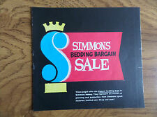 1959 Simmons Bedding Bargain Sale Furniture Mattresses Sofa  Bed Booklet Ad