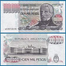 Argentina 100,000 Pesos P 308 PERFECT UNC Low Shipping! Combine FREE! 100000