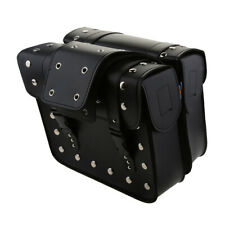 Plate Stud Design Cube Portable Leather Motorcycle bags for Harley Touring