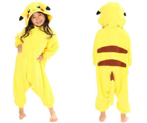 SAZAC Pokemon Pikachu Fleece Costume Children Unisex Size 110 Kids Yellow Japan