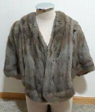 Genuine Vintage Rare Chinchilla Fur Stole Wrap Coat